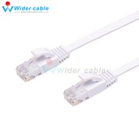 utp cat 6 cable - Promotion m Passed Fluke pairs Ultra Flat Patch Cord UTP CAT Network Cable White Color