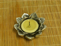 handmade candles - 2015 Latest Handmade Lotus Shape Candle Holder Fashion Vintage Home Decor Candle Stand for Home Decoration
