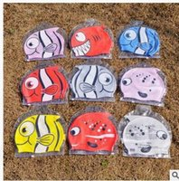Wholesale Hot Lovely Fun Cute Cartoon Silicone Kids Swim Caps Waterproof Caps Water Sports caps LJJK59