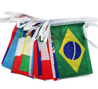 Wholesale 100pcs world country flags string countries flag foreign flags hanging flags string flag party decorate different nations