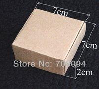 kraft box - 7 CM Jewerly kraft paper box Brown kraft handmade gift boxes custom box logo kraft paper box
