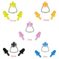 Wholesale Delicate New Waterproof Soft Silicone Pratical Pool Swimming Nose Clip Swim Ear Set Water Sport Safety