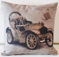 Wholesale Retro Vintage Classic cars pillow Linen cushion cover for Car cushions Home Decor Sofa cushions cm cm