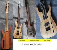 Wholesale good quality mahogany solid wood string electric guitar
