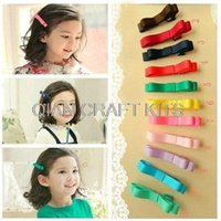 Wholesale 20pcs handmade assorted gift set mm hair clips Baby girl Ribbon Hair Bows free gift box hairband barrettes hair pins inch