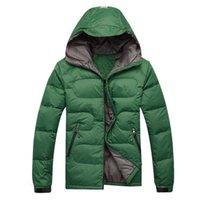 Hooded men winter parka - Top quality men s clothing down parkas men jacket outerwear coats thick winter cloth M L XL XXL black green blue dark blue