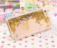 For Apple iPhone mobile phone crystal hard case - Luxury Crystal Clear Hard Plastic Mobile Phone Case For Apple iPhone inch Fashion Gold Quicksand Back Cover For iPhone