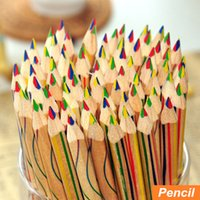 Wholesale 10 Rainbow color pencil in colored pencils for drawing Stationery drawing Office material school supplies