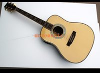 Wholesale Sales promotion Acoustic Guitar Light Coffee with Pickups Acoustic Electric Guitar