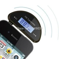 Wholesale MT mm Universal FM Transmitter With Build in Rechargeable Battery A Multi Car Charger Black