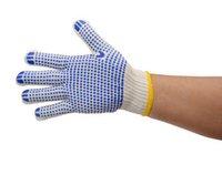 Wholesale Labor insurance yarn gloves Point plastic slip cotton gloves points plastic gloves point bead gloves