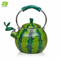 best whistling kettle - Best Enamel Watermelon Kettle L Porcelain Enamel Teapot Kettle Whistle Kettle Enamelware Drop Shipping