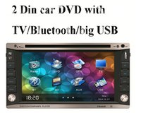 touch screen car audio - universal two Din quot inch Car DVD player car video audio Radio stereo USB SD Bluetooth TV AUX big USB slot digital HD touch screen