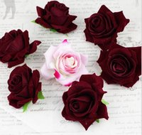 velvet flower - High quality velvet rose corsage flower head first dedicated CM engineering simulation flowers in three colors FZH009