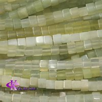 Wholesale Discount Genuine Natural New Green Jade Square Rectangle Shape Loose Stone Beads Fit Jewelry DIY Necklaces or Bracelets quot