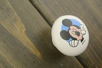bathroom door handle - Fedex Cartoon Ceramic Mickey Mouse Handles Bathroom Minnie Cartoon Door Hardware Handle Furniture