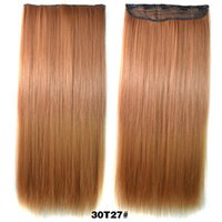 Wholesale quot Human Hair Extensions Ombre Color Hair Extention Long Straight Hair Pieces with Five Clips G0032Z
