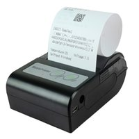 Wholesale 58HB Portable Bluetooth Wireless Receipt Thermal Printer for Android US Plug mm Paper Width Black