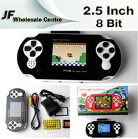 tv card player - DHL Portable Inch Handheld Game Player PVE Bit Digital Pocket Video Game Console System TV Out Games Free Built in Game Card
