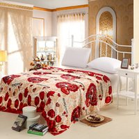 best couches - New Love Red Tulip Flowers Plush Flannel Blanket Wedding Bed Sofa Couch Fleece Bedspread Best Gift for Women Drop Shipping