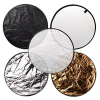 Wholesale quot cm in Portable Collapsible Light Round Photography Reflector for Studio Multi Photo Disc