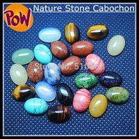 al por mayor cabujón oval de piedra-Venta al por mayor-30 pedazos / porción piedra de la piedra de la naturaleza clasificó los accesorios de los granos Tamaño oval de la forma 10x14m m Mezcle los colores