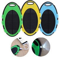 Wholesale 5000mAh Solar Charger Panel Waterproof Dual USB LED Backup External Battery Panel for iPad iPhone s Samsung HTC New Hot