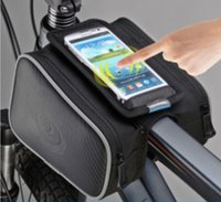 Wholesale xnyocn L Cycling Bike Front Frame Bag Tube Pannier Double Pouch for in in Cellphone bicycle accessories