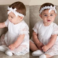 baby christening gown pattern - new white lace pattern and knee length summer style baby girls dress baby girl christening gowns