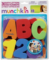 baby pack and play - Melon letter digital stickers child puzzle baby toy bath play letters and numbers of packs