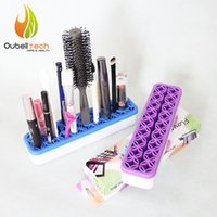 Wholesale Quirkly Cosmetic Brushes Holder with Lid Small Cosmetic Organizer Assembly Makeup Brush Organizing Drying Back Beauty Essentials