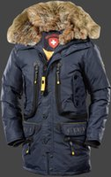 men winter down coat jacket - Wellensteyn Seewolf RainbowAirTec Navy Jacket Wellensteyn Fur Hooded Warm down Coats herren winter jacken