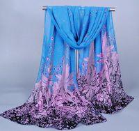 best scarfs - Mix Colours Fashion Women Elegant Scarves Dandelion Pattern Chiffon Scarf For Lady Best Gift Cheap Price XQ96