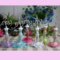 Wholesale Small Dress Mannequin cm tall color Mix Earrings Ring Holder Fashion Jewelry Display Stand Wedding Party Decorations Favor hollder