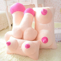 Wholesale Creative Tricky Plush Cushion Big Boobs Breast Toy Penis Dick Pillow Gift