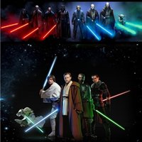 action movie characters - Hot Sale Star Wars Lightsaber cm LED And Action Figure Flashing Light Sword Toy Mutual Percussion Sabers For Boy
