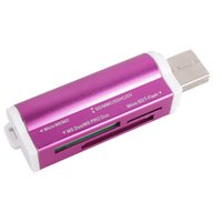 Wholesale USB All in One Memory Multi Card Reader For Micro SD SDHC TF SD MS Pro Duo usb sd card reader