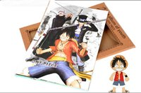 album art prints - 5 set set Anime One Piece Figure Posters Photo Album High Quality anime Color Printed Poster Birthday gift Free