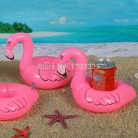 flamingo - 500PCS Flamingo Shape Drink Can Holder Inflatable Pool Toy Kid Party Favor Supply Gift Inflatable Swimming Pool Toy Party