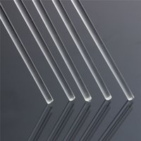 acrylic round rod - 1PC mm Dia Clear Round Perspex Acrylic Rod PMMA Circular Bar cm Stable Processing Performance High Quality