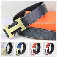 men's belts - 2016 new hip brand buckle h designer belts for men women genuine leather gold cinto belt Men s