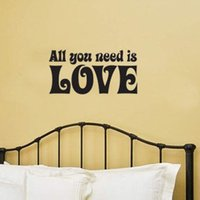 beatles love vinyl - The Beatles All You Need Is Love Quote Vinyl home decoration wall sticker