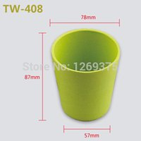 al cup - Alocs Portable Convenient Health Bamboo Cup Coffee Cup Outdoor Tableware Camping Dinnerware AL TW Beige Green