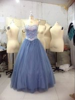 Cheap Strapless ball prom dresses Best Formal crystal beads evening gowns