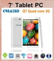 Wholesale 3G Android Tablet4 Q7 Quad Core Tablet PC GB GB bluetooth Capacitive WIFI Dual Camera inch Tablets PC tablet dhl PH006