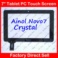 ainol crystal quad - inch Capacitive touch screen digitizer touch panel glass for Ainol novo7 novo Crystal quad core tablet