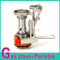 Wholesale Portable Outdoor Stainless Steel Butane Gas Stove Golden Silver High Quality