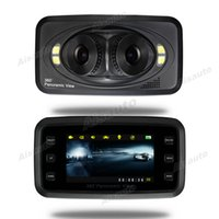 Wholesale inch Dvr Camera P Degree Panoramic three lenses Car DVR night vision Driving Recorder Video Camera Camcorder
