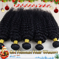 kinky curly - 100 A Brazilian Virgin hair Bundles quot quot Kinky Curly Remy Hair Extensions NO shedding NO Tangle Unprocessed Hair Weave