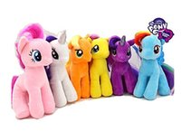applejack pony - 6pcs quot My Little Pony Plush Soft Toys Dolls Twilight Sparkle Applejack Rarity Futtershy Rainbowdash Pinkie Pie